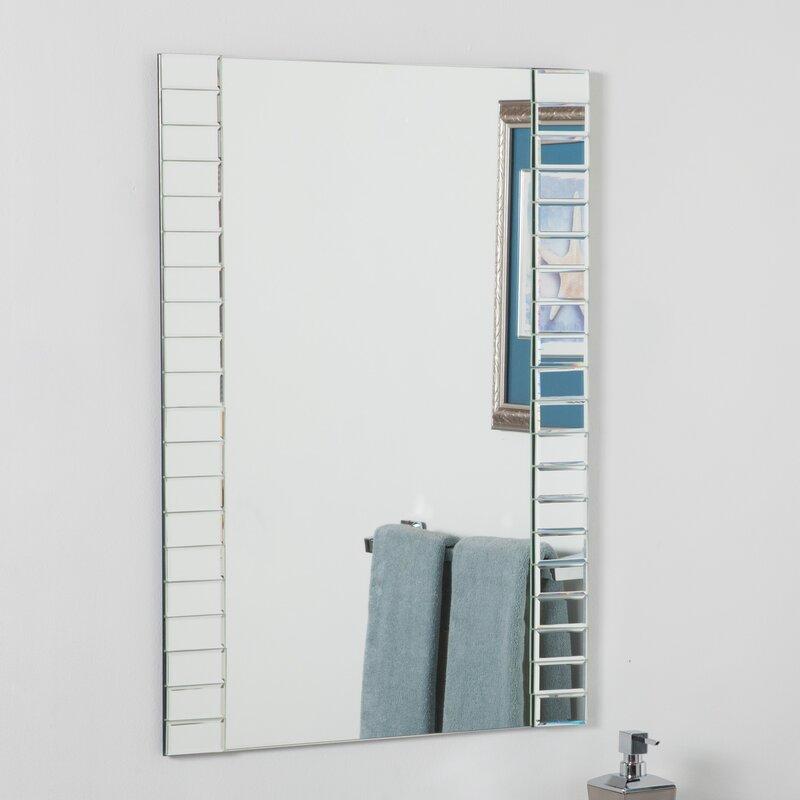 Wrought Studio Tarbell Beveled Wall Mirror Reviews Wayfair