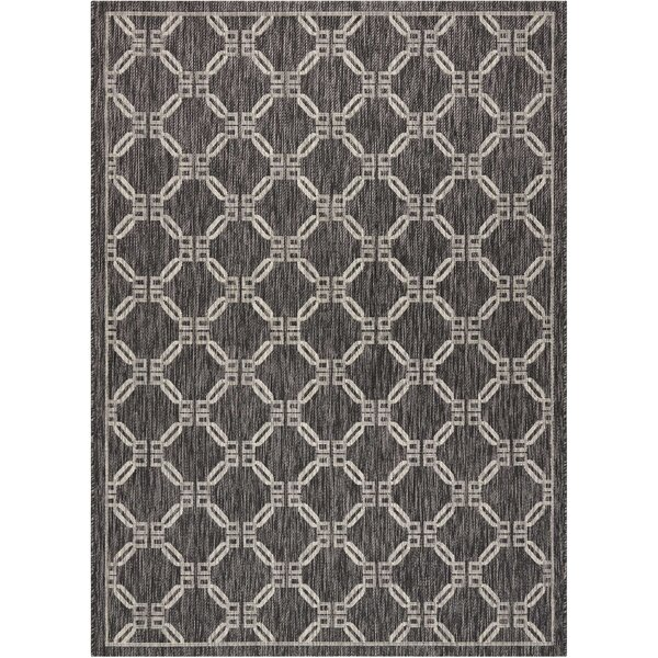 Cochrane Charcoal Indoor/Outdoor Area Rug by Charlton Home