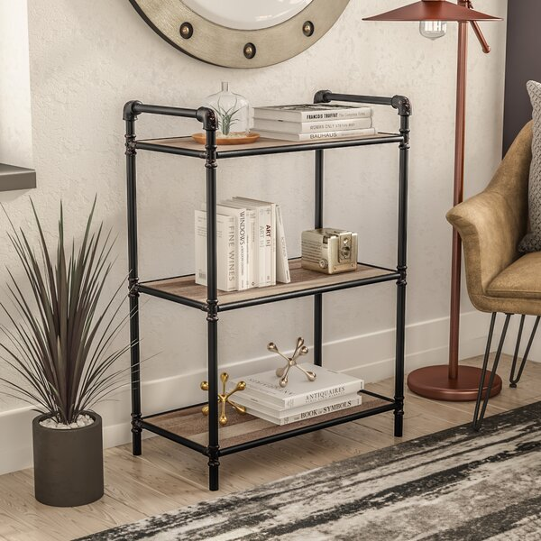 3 Tier Metal Pipe Etagere Bookcase by 17 Stories