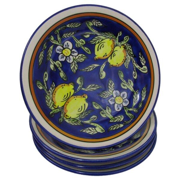 Citronique Stoneware 8 Salad Plate (Set of 4) by Le Souk Ceramique