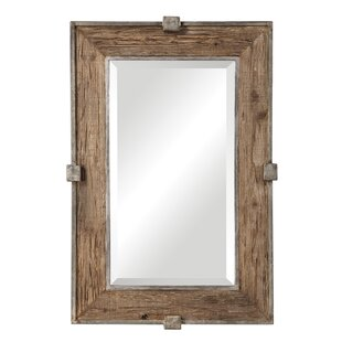 Gracie Oaks Maleah Weathered Wood Accent Mirror