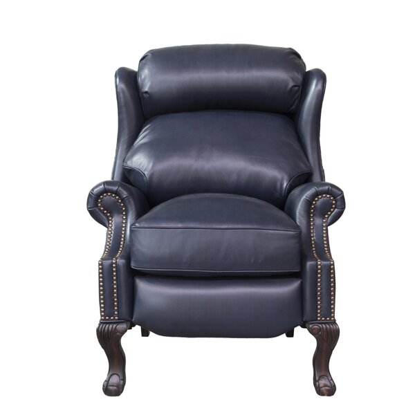 Verne Leather Manual Recliner By Canora Grey