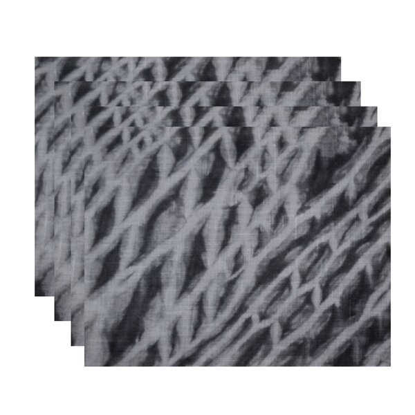 Grand Ridge Shibori Stripe Geometric Placemat (Set of 4) by Bay Isle Home