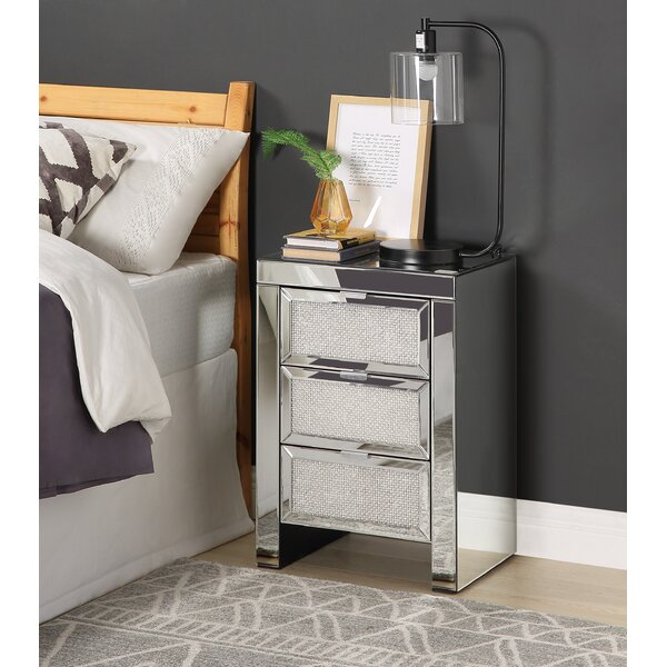 DeMontfort 3 Drawer Nightstand by House of Hampton