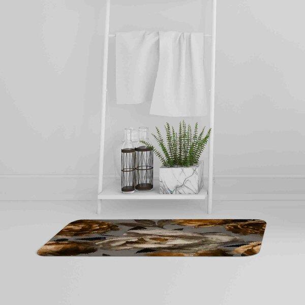Guinivere Flower Designer Bath Rug