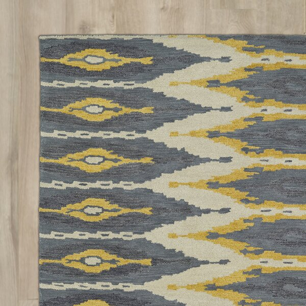 Hocca Hand-Tufted Graphite Area Rug by Bungalow Rose