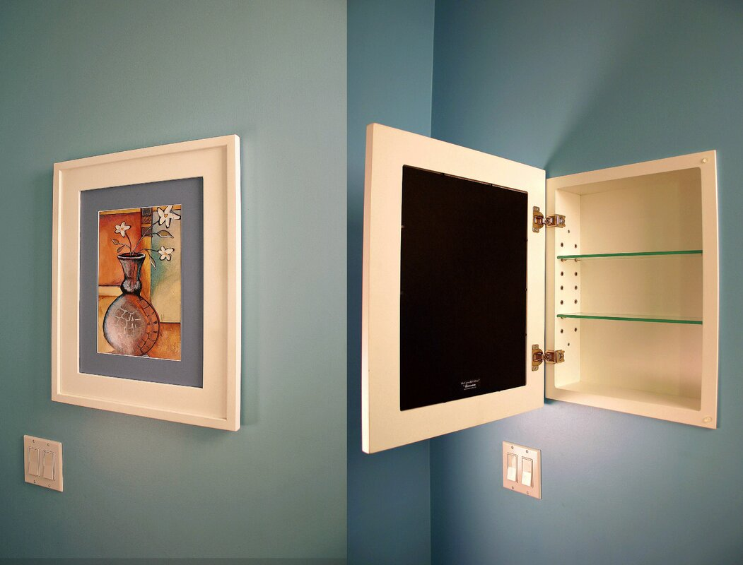 13x16 Concealed Recessed Picture Frame Medicine Cabinet