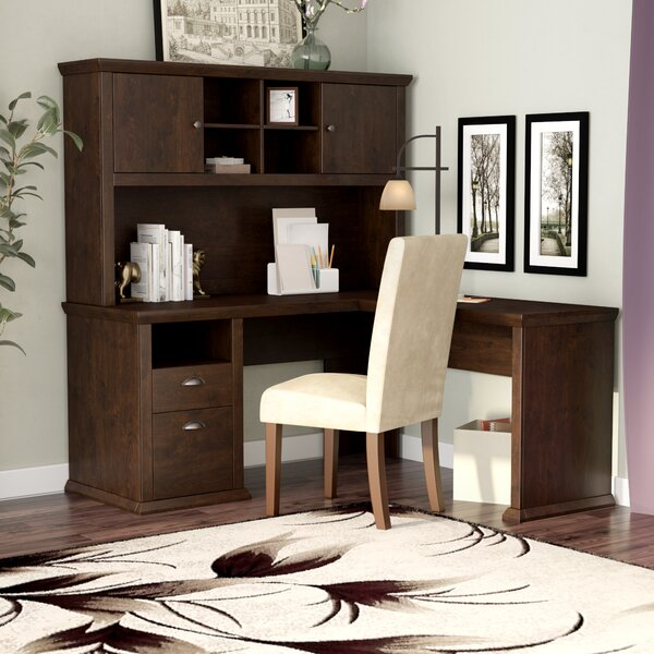 Ferrell L-Shape Corner Desk with Hutch by Three Posts