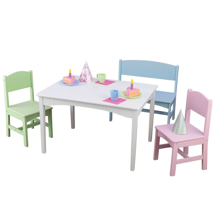 Nantucket Kids 4 Piece Writing Table And Chair Set