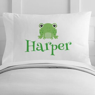 Personalized Frog Toddler Pillow Case