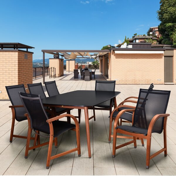 Edwyn International Home Outdoor 9 Piece Dining Set by Brayden Studio