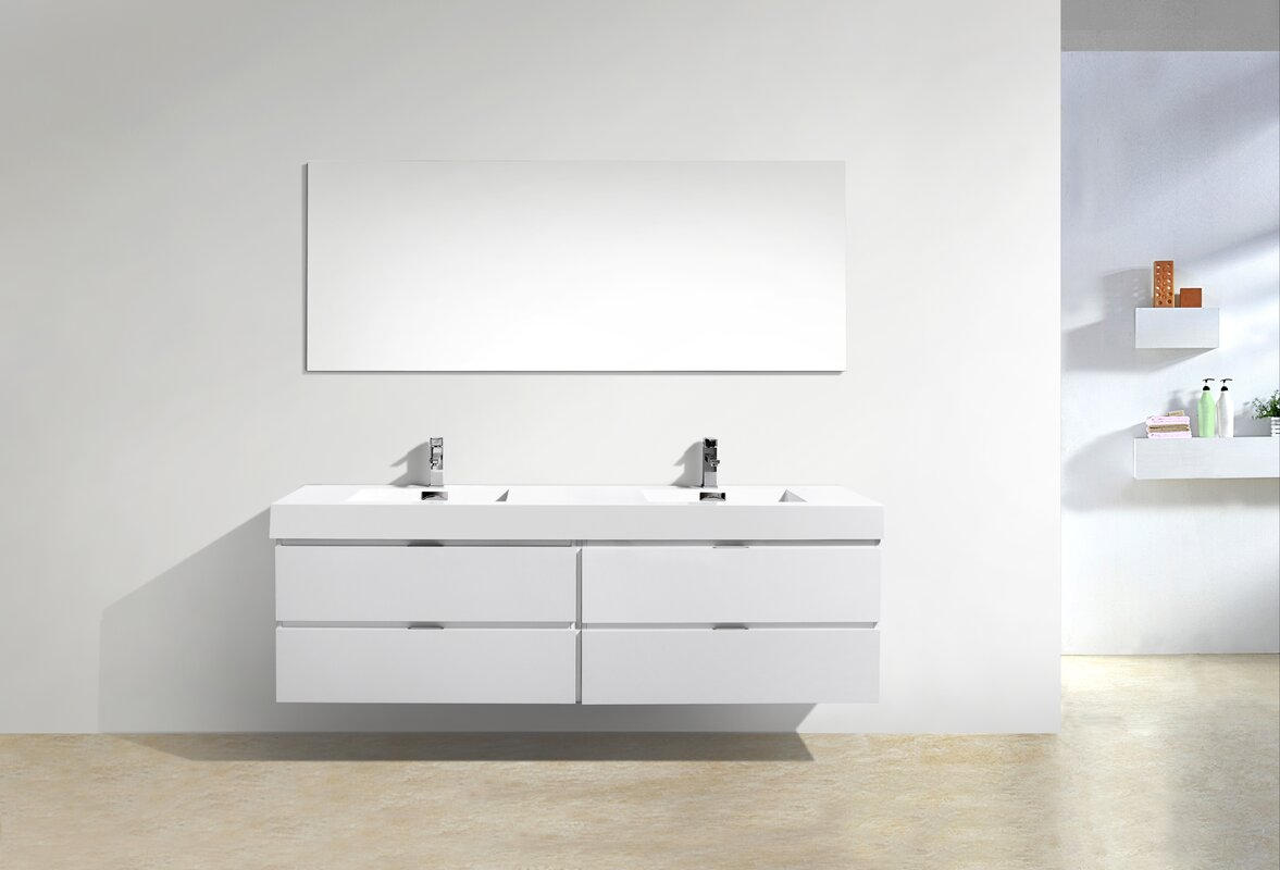 Wall To Wall Bathroom Vanity. Tenafly Wall Mount 72 Double Modern Bathroom Vanity Set