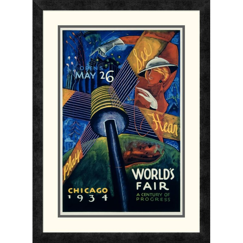 1933 WORLD/'S FAIR CENTURY OF PROGRESS SCIENCE CHICAGO CITY VINTAGE POSTER REPRO
