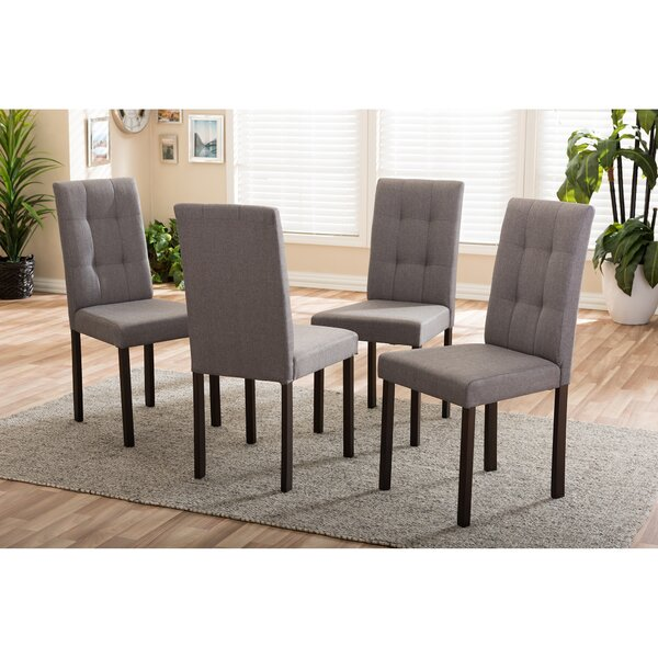 Aiello Upholstered Dining Chair (Set of 4) by Latitude Run