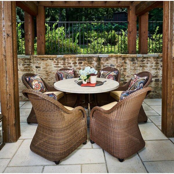 Lemanski 7 Piece Dining Set with Cushions Bayou Breeze W003220675