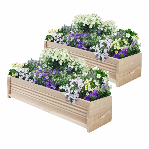 Cedar Planter Box (Set of 2) by Greenes Fence