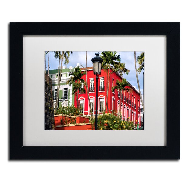 Old San Juan 1 by CATeyes Framed Photographic Print by Trademark Fine Art