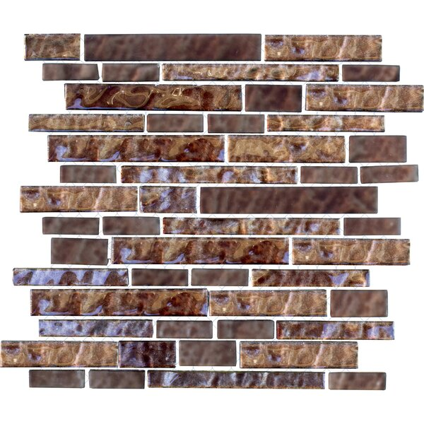 Upscale Designs Random Sized Porcelain, Natural Stone, Metal, Glass, Ceramic Mosaic Tile in Metallic Brown by Instant Mosaic
