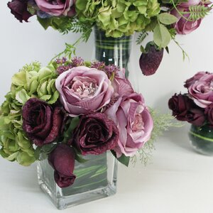 Hydrangeas/Roses/Mixed Floral Arrangement in Decorative Vase