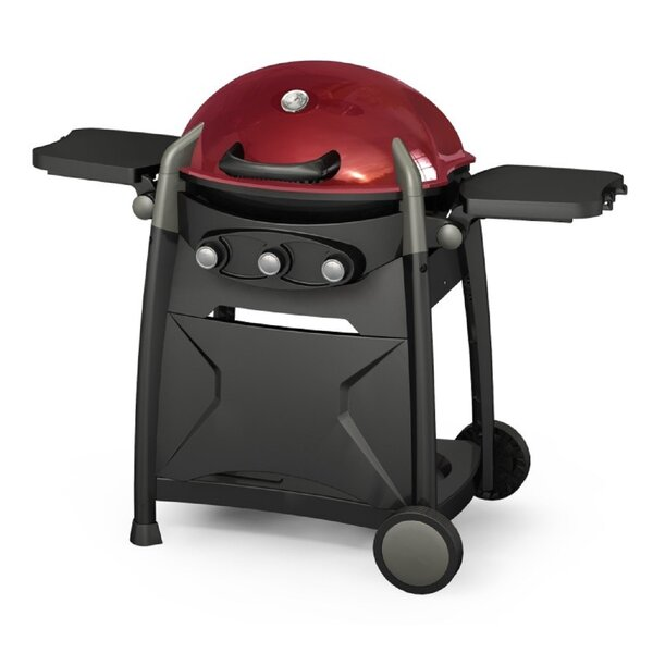 BroilChef 3-Burner Propane Gas Grill with Side Shelves by BroilChef