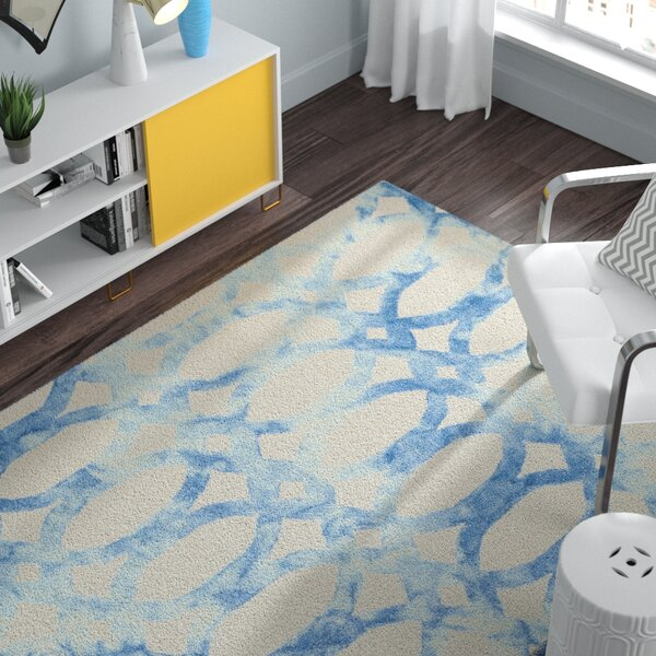 Edie Ivory/Blue Area Rug by Zipcode Design
