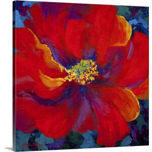 'Passion Red Poppy' by Marion Rose Painting Print on Canvas by Canvas On Demand