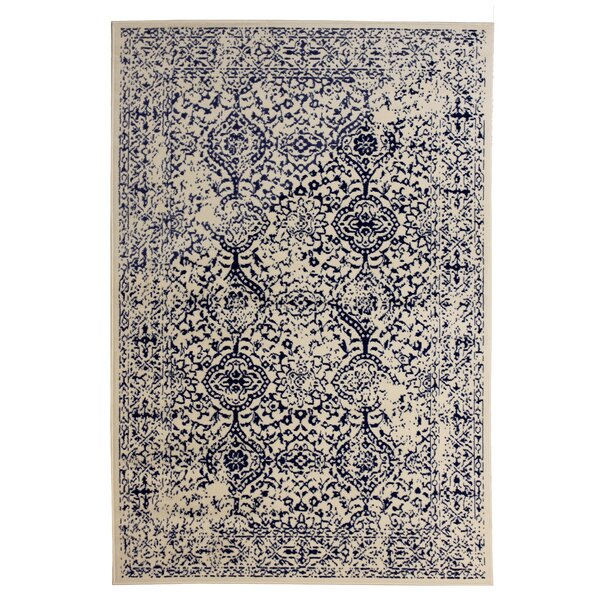 Bonner Beige/Navy Area Rug by Bungalow Rose