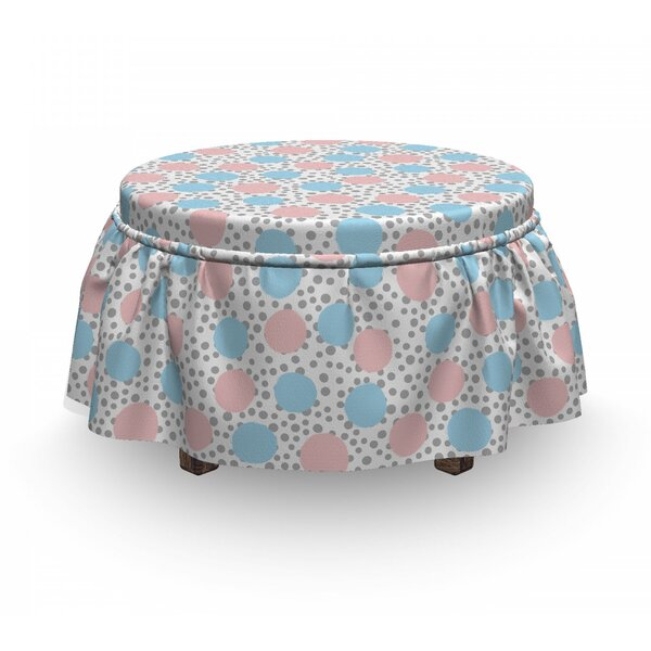 Children Pastel Circles Ottoman Slipcover (Set Of 2) By East Urban Home