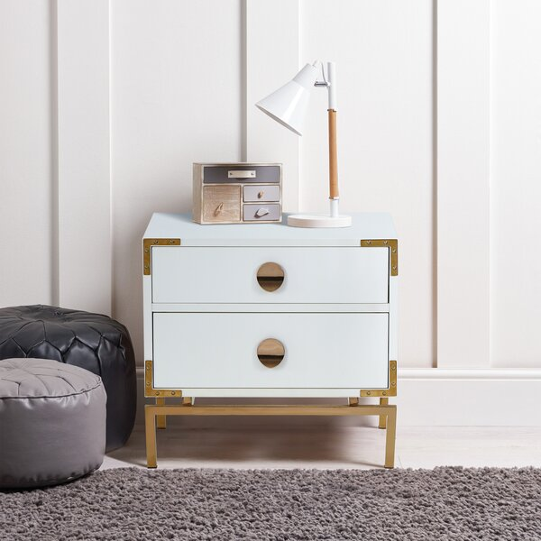 Mackinnon 2 Drawer Nightstand by Everly Quinn