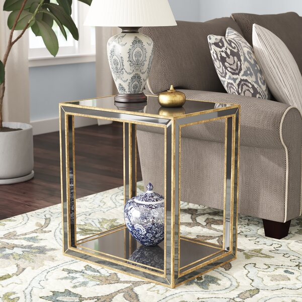 Robinson Mirrored End Table by Everly Quinn