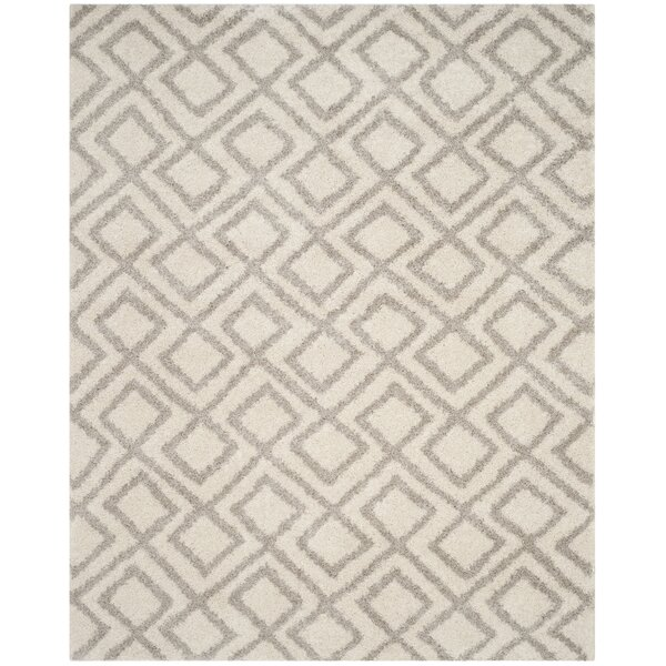 Amicus Power Loomed Ivory/Beige Area Rug by Wrought Studio