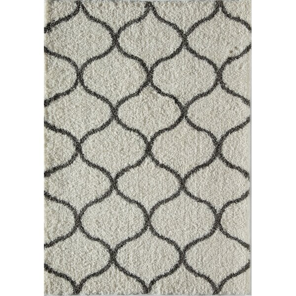 Loopla Links Ivory/Charcoal Area Rug by Rugs America
