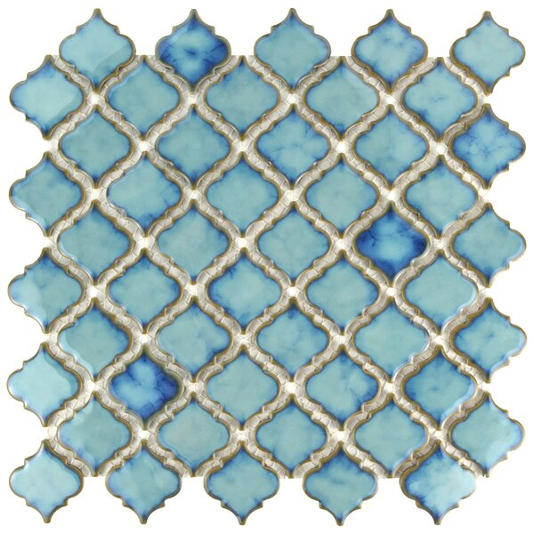 Pharsalia 2 x 2.25 Porcelain Mosaic Tile in Marine by EliteTile