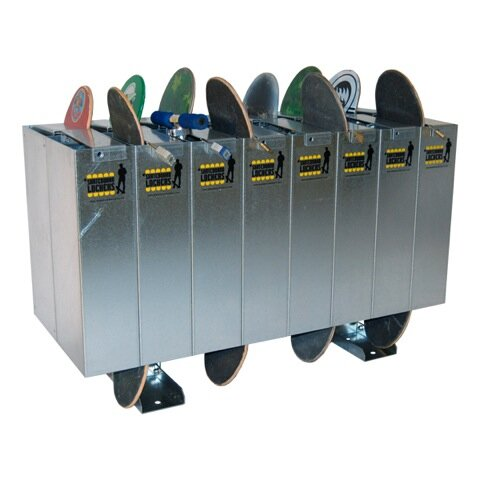 1 Tier 8 Wide School Locker by Skateboard Lockers