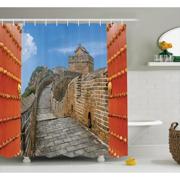 China Asian Silk Road Tower Shower Curtain by East Urban Home
