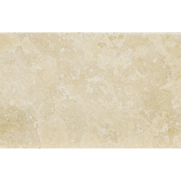Travertine 16 x 24 Field Tile in Ancient Tumbled Beige by Emser Tile