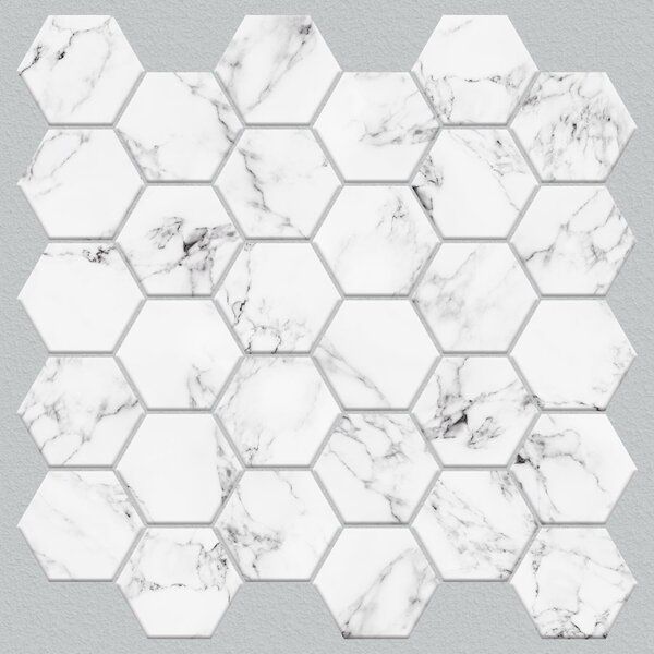 Room Mates Hex Marble 10 5 X 10 5 Pvc Peel Stick Mosaic Tile In