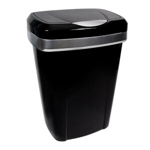 Plastic 12.5 Gallon Touch Top Trash Can (Set of 2) by Hefty