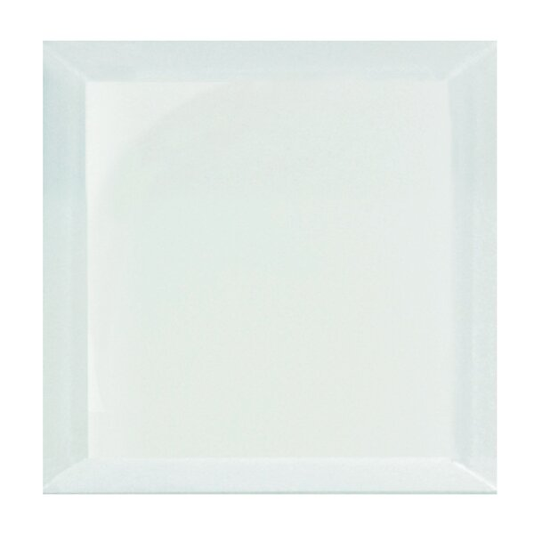 Frosted Elegance 8 x 8 Beveled Glass Tile in Glossy Arctic by Abolos