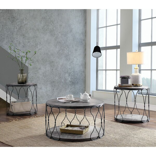 Kuhn 3 Piece Coffee Table Set by 17 Stories