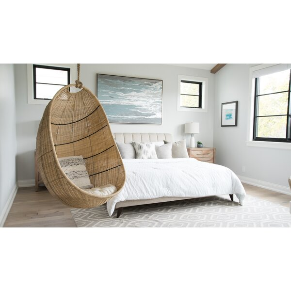 Meeks Wicker Hanging Swing Chair by Bayou Breeze Bayou Breeze