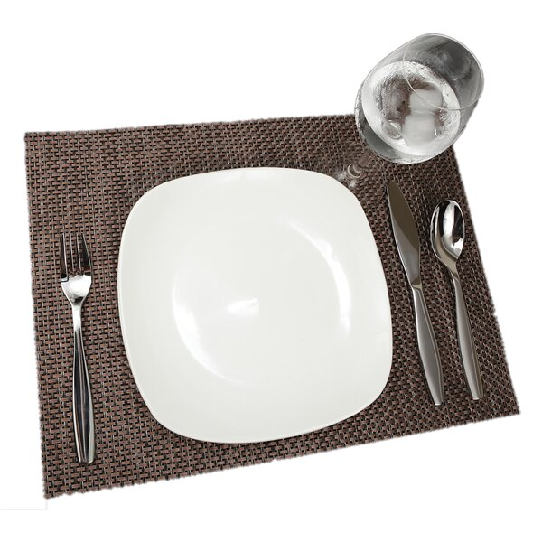 Adamantine Weave Placemat (Set of 12) by Bayou Breeze