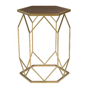 Rivero Hexagon Frame End Table..