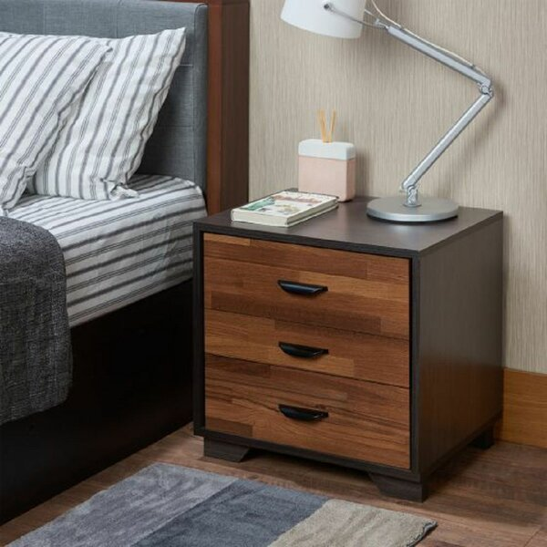 Tadlock 3 - Drawer Nightstand in Espresso by Foundry Select Foundry Select