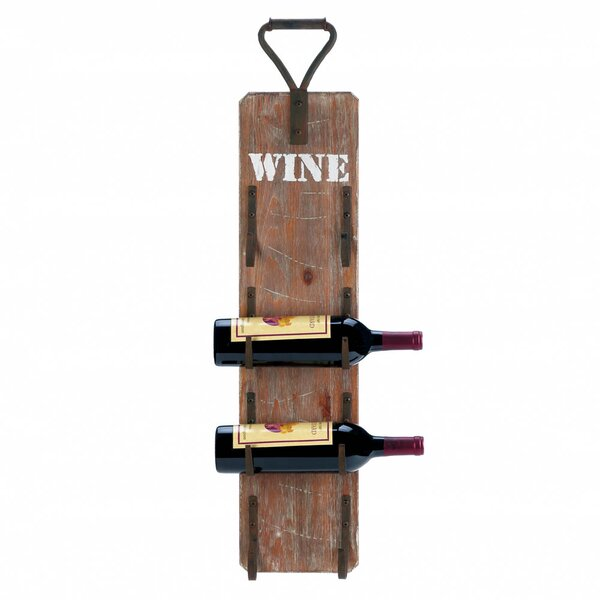 Dunigan 4 Bottle Wall Mounted Wine Bottle Rack by Fleur De Lis Living Fleur De Lis Living