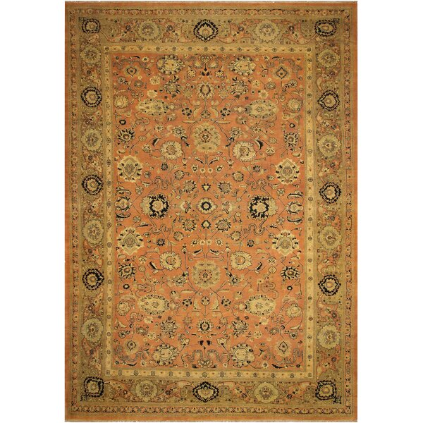One-of-a-Kind Aarav Hand-Knotted 1960s Brown 13'5 x 19 Wool Area Rug