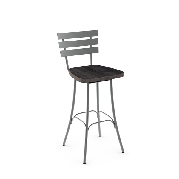 Glenham 30 Swivel Bar Stool by Gracie Oaks