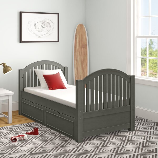 Burroughs Twin Panel Bed with Trundle by Kitsco