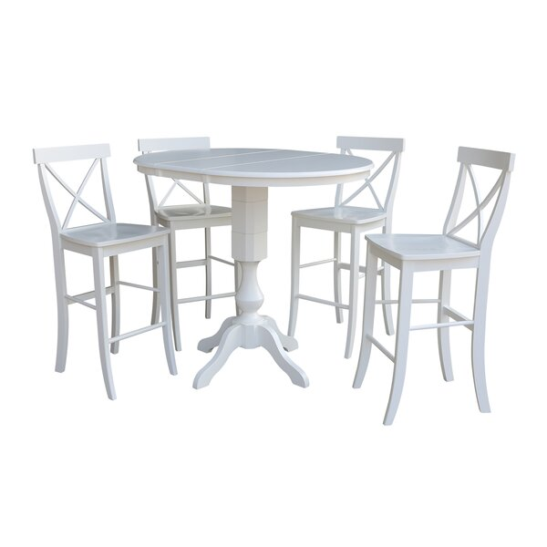 Sublett Extension 5 Piece Pub Table Set by August Grove