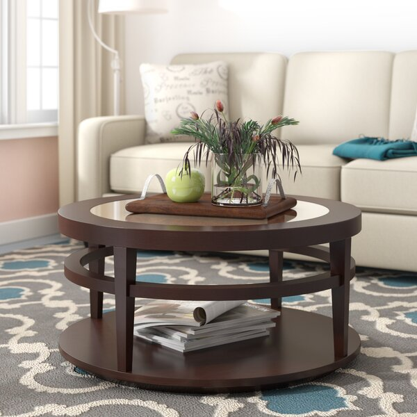 Cheap Price Troyer Floor Shelf Coffee Table With Storage